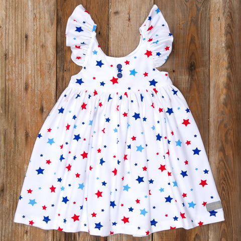American Celebration Surprise Serena All Knit White Stars Dress