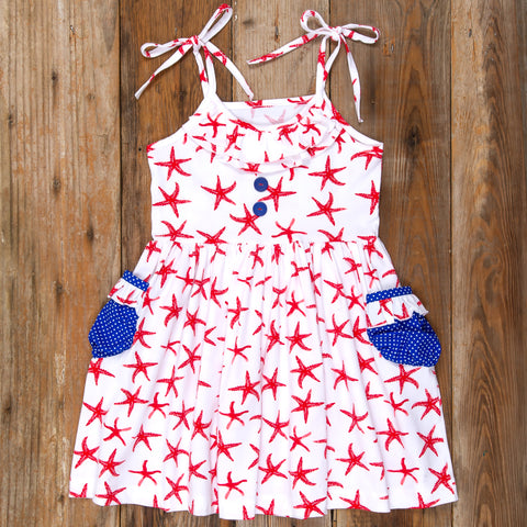 American Celebration Surprise Judy All Knit Starfish Dress