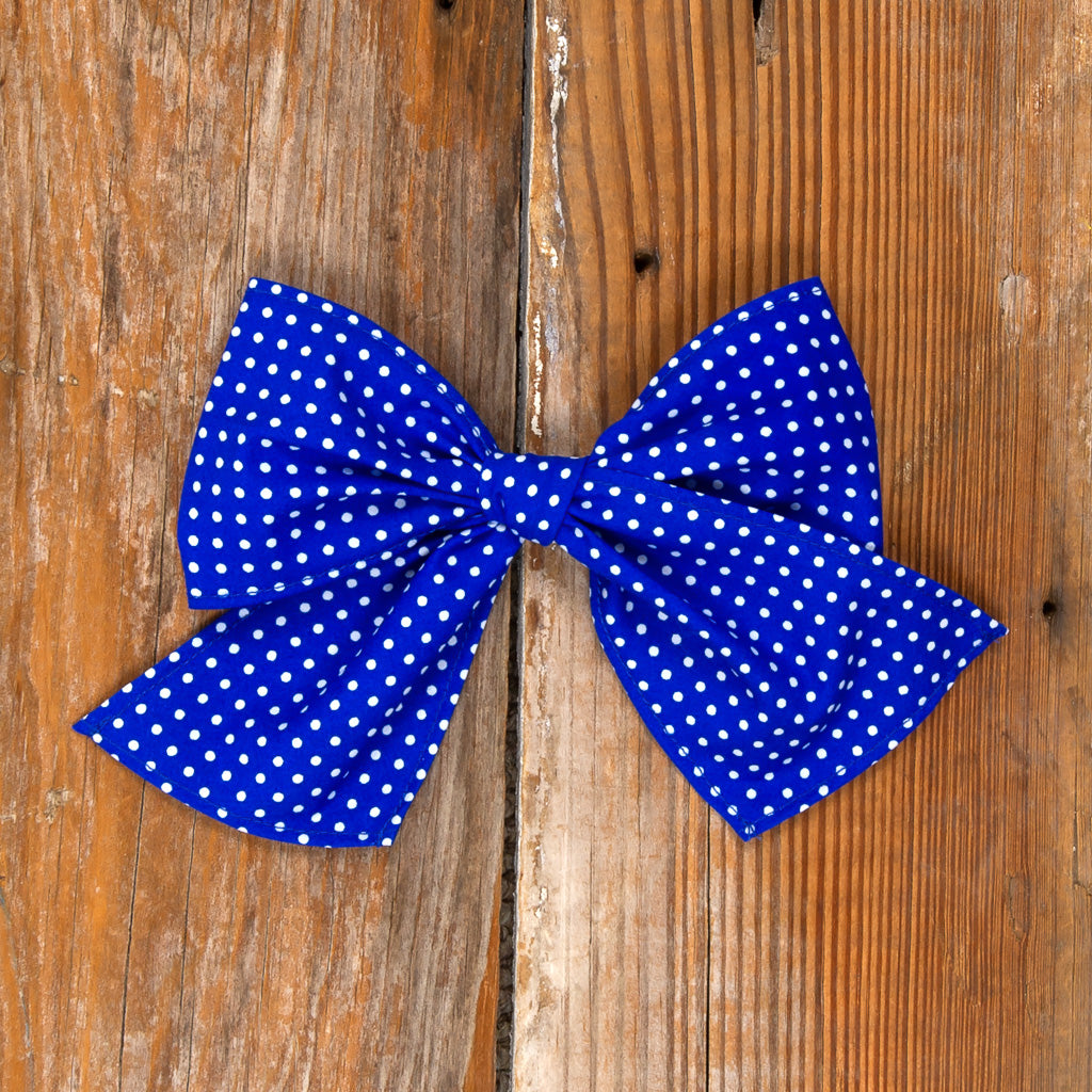 American Celebration Surprise Sonni Blue Dot Bow