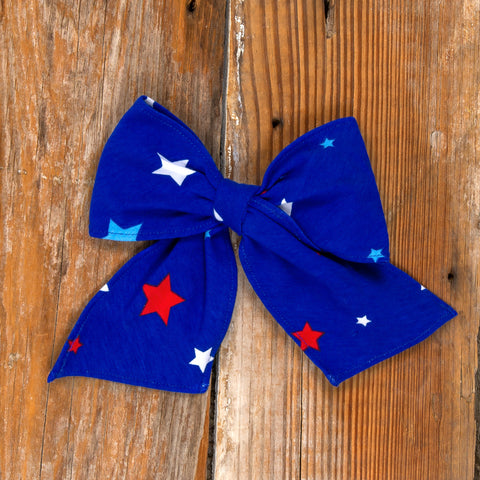 American Celebration Surprise Sonni Blue Stars Bow