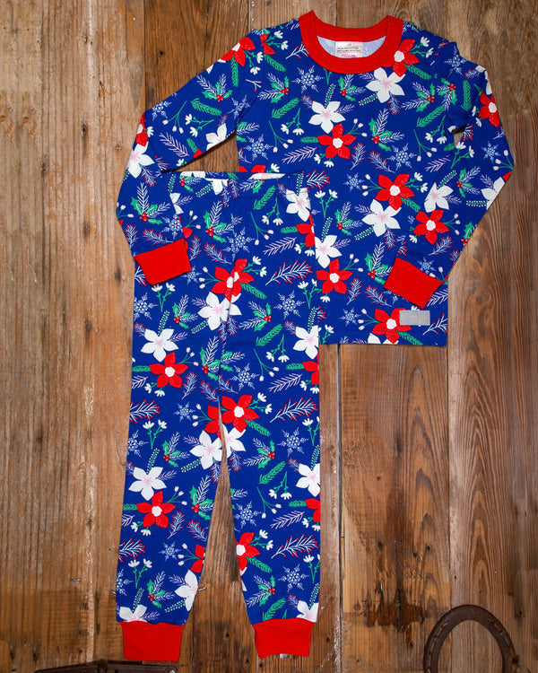 Christmas Eve Carson Poinsettia Pajama Set