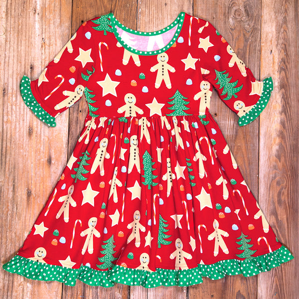 Christmas Cookies Ashley All-Knit Sleeve Dress