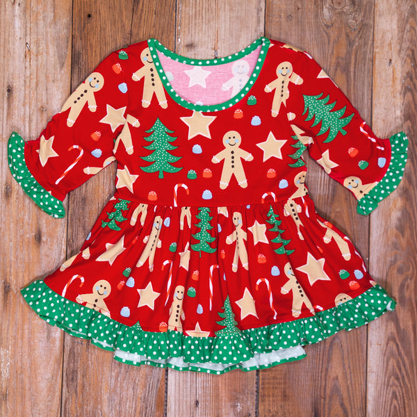 Christmas Cookies Ashley Hi/Low Knit Top