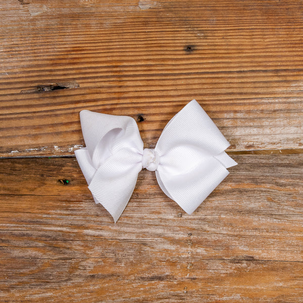 Classic Small White Bow