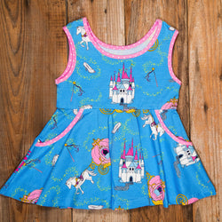 Happily Ever After Andrea Blue Top