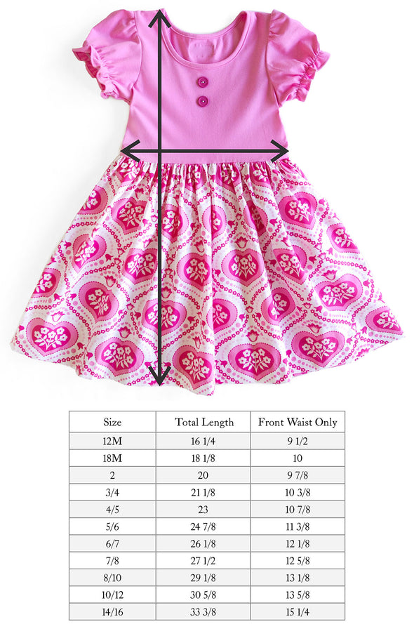 Heart Damask Rhonda Dress