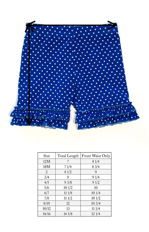 Star Spangled Brailey Ruffle Knit Shorts