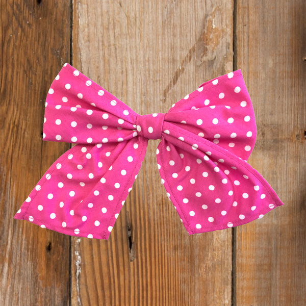 Back-to-School Pink Dot Sonni Bow