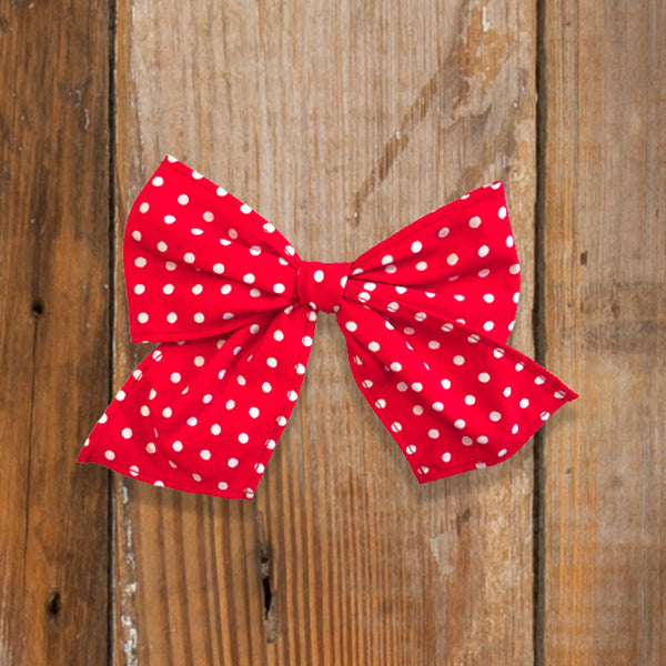 Back-to-School Red Dot Sonni Bow