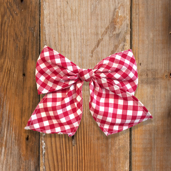Back-to-School Red Check Sonni Bow