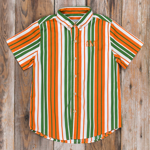 Pumpkin Harvest James Short Sleeve Button Down