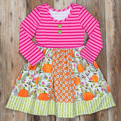 Festive Fall Surprise Rhonda Pumpkin Dress