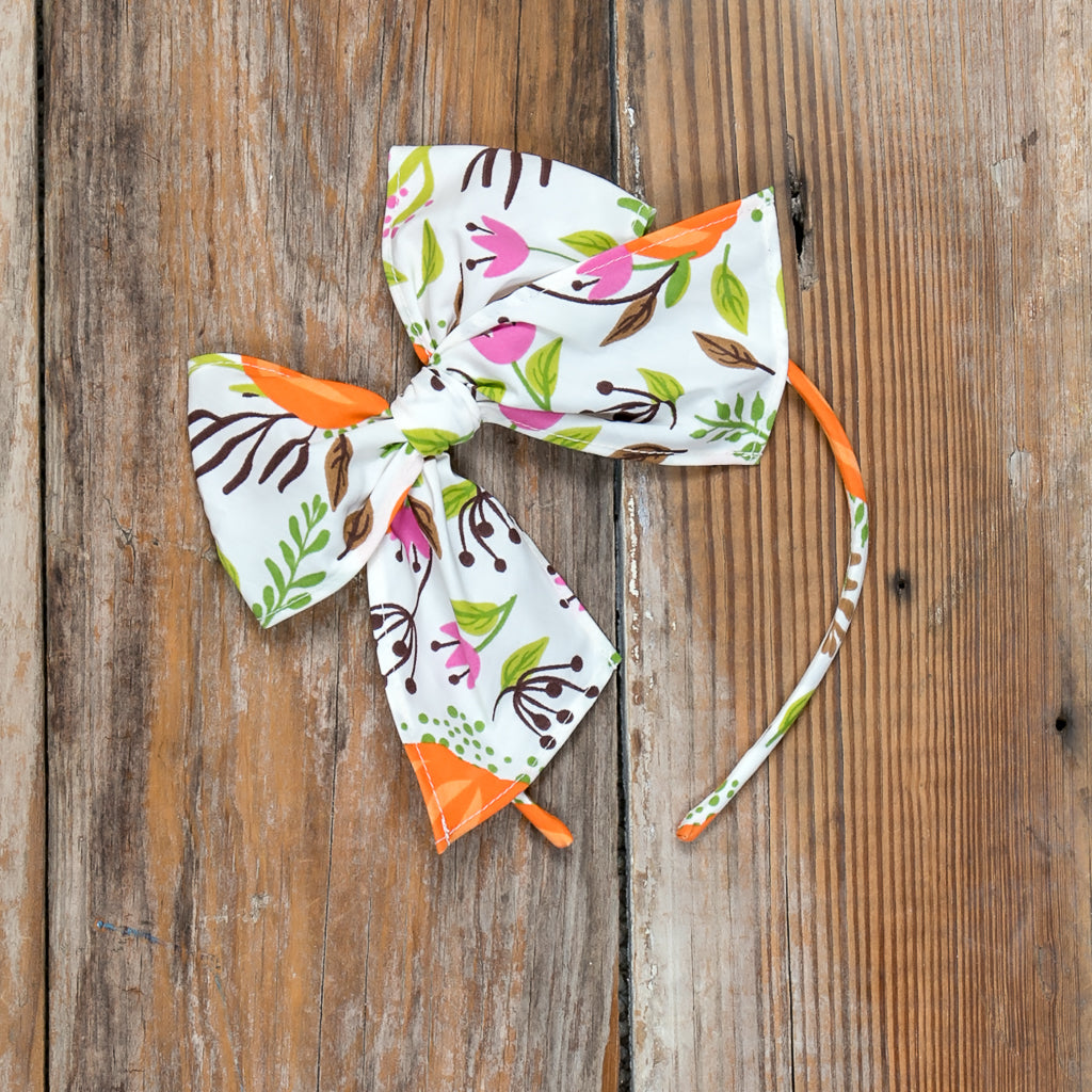 Festive Fall Surprise Bea Pumpkin Headband