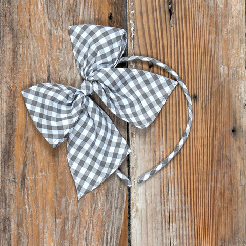 Festive Fall Surprise Bea Grey Check Headband