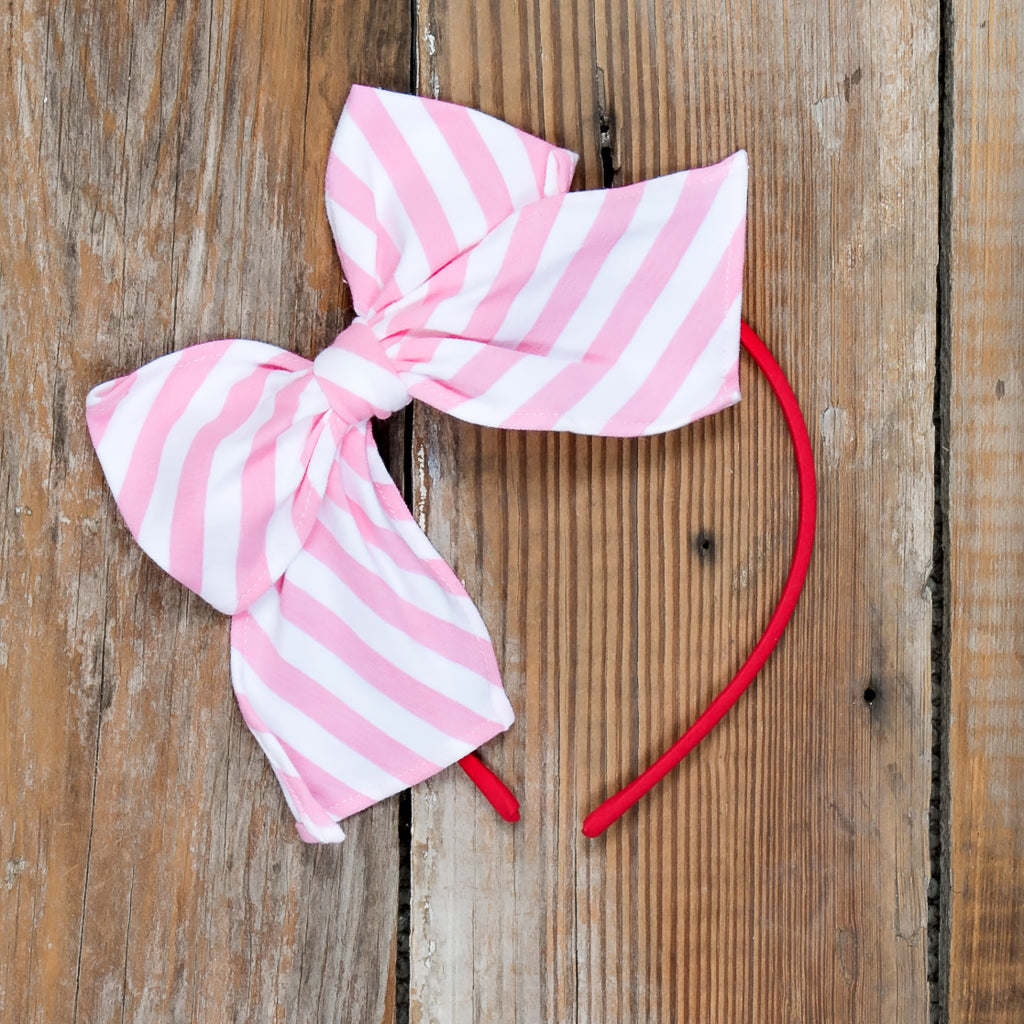 Christmas Parade Surprise Pink Stripe Bea Headband