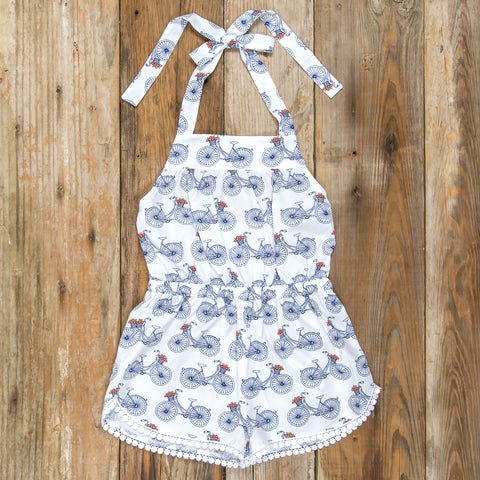 4th of July Surprise Teresa Bicycle Romper