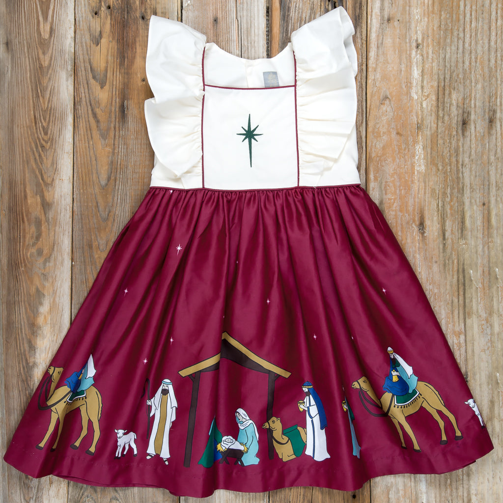 Silent Night Adalyn Cranberry Dress