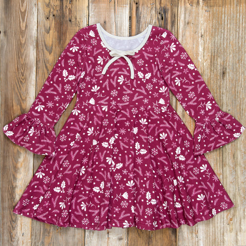 Silent Night Ruby Cranberry Dress