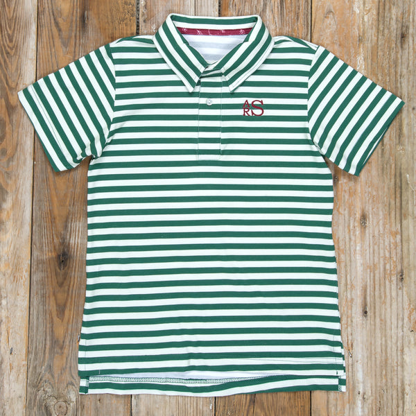 Silent Night Connor Green Stripe Polo
