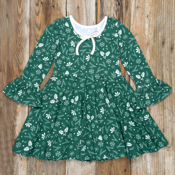 Silent Night Ruby Green Dress
