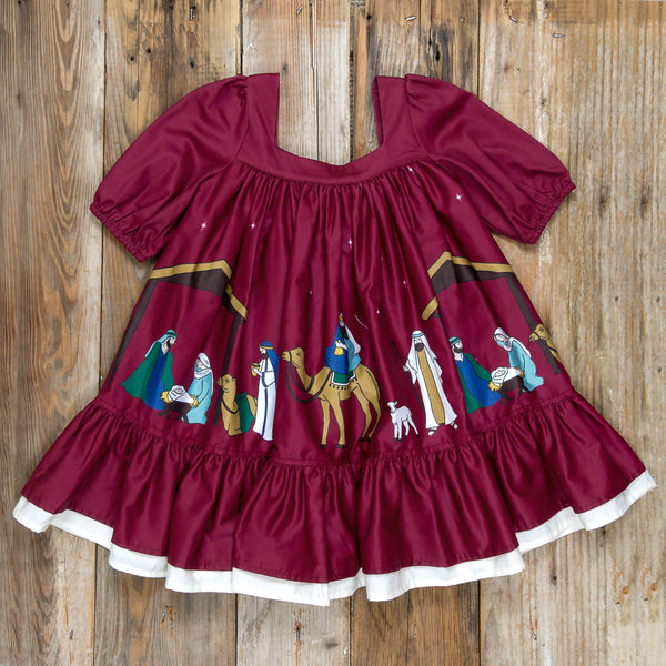 Silent Night Laurel Cranberry Dress