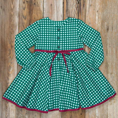 Silent Night Winona Green Check Dress