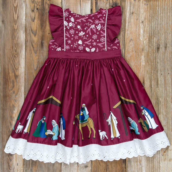 Silent Night Catalina Cranberry Dress