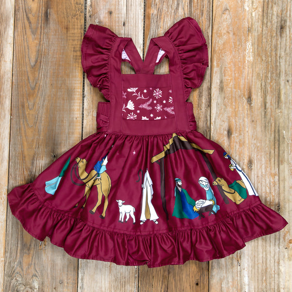 Silent Night Gracie Cranberry Dress