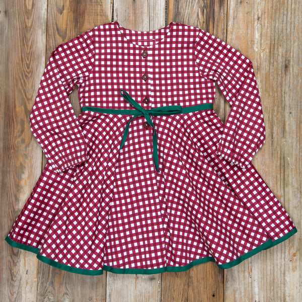 Silent Night Winona Cranberry Check Dress