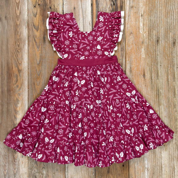 Silent Night Velma Cranberry Dress