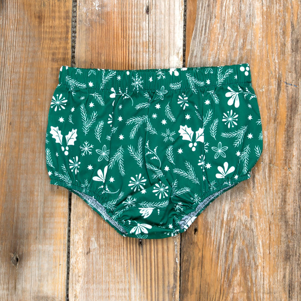 Silent Night Heidi Green Diaper Cover