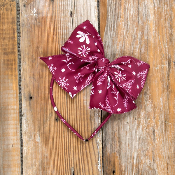 Silent Night Bea Cranberry Headband