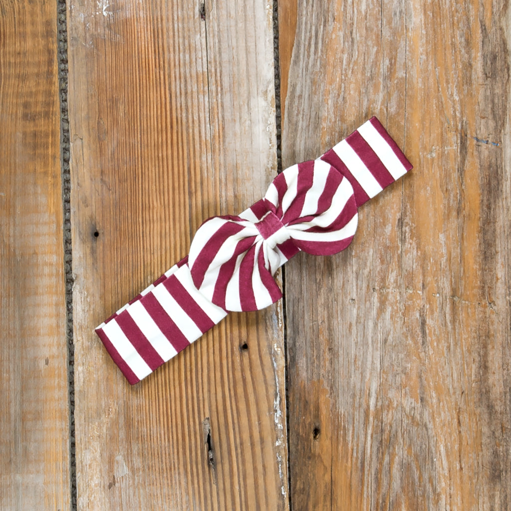 Silent Night Eden Cranberry Stripe Headband