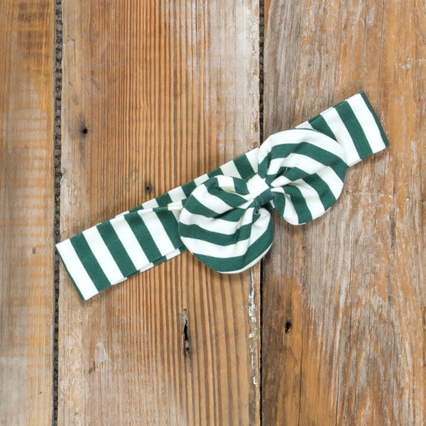 Silent Night Eden Green Stripe Headband