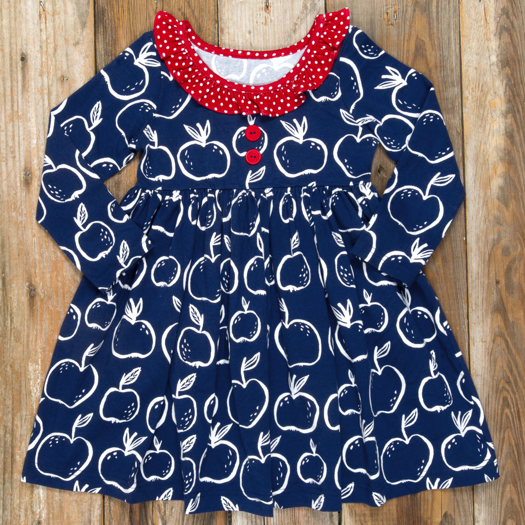 Back-to-School Surprise Heather Apples Dress