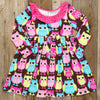 Back-to-School Surprise Heather Owl Dress