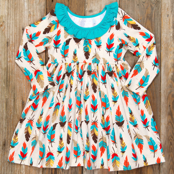 Back-to-School Surprise Heather Feather Dress