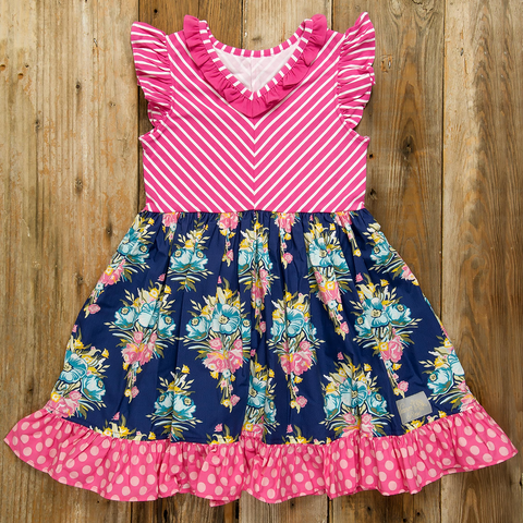 Fall Fun Floral Harper Dress