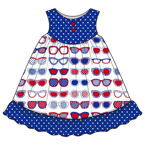 Star-Spangled Sunglasses Gigi Dress