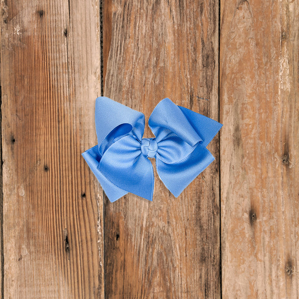 Happily Ever After Medium Blue Classic Bow