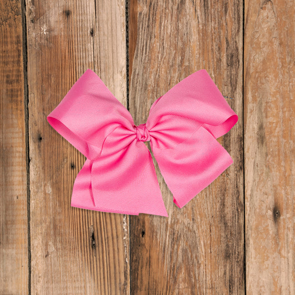 Large Pink Classic Bow
