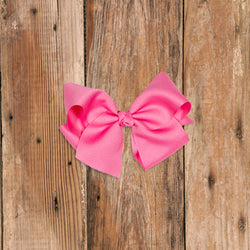Medium Pink Classic Bow