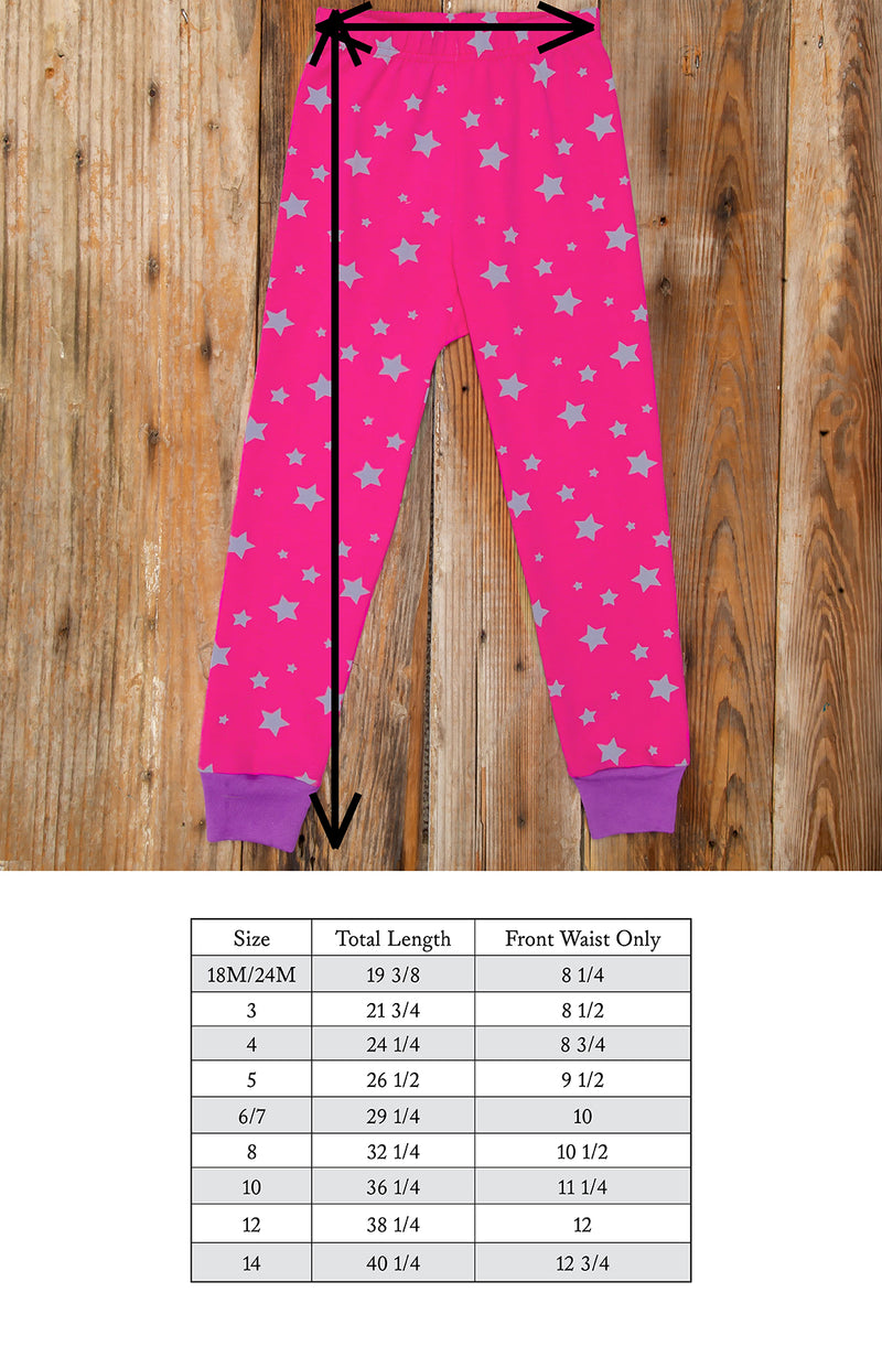 Spooky Surprise Pink Star PJ Set