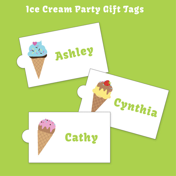 Ice Cream Party Printable Package