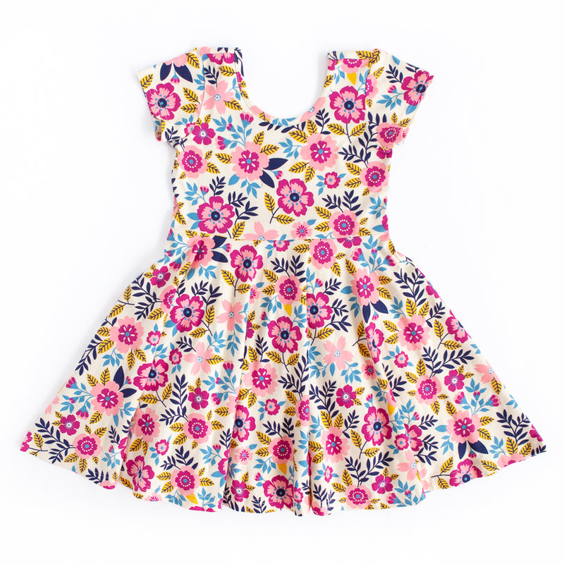 Annie Knit Pink Floral Dress