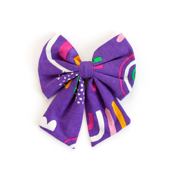 Purple Rainbow Sonni Bow