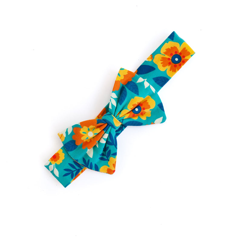 Hope Teal Floral Headband