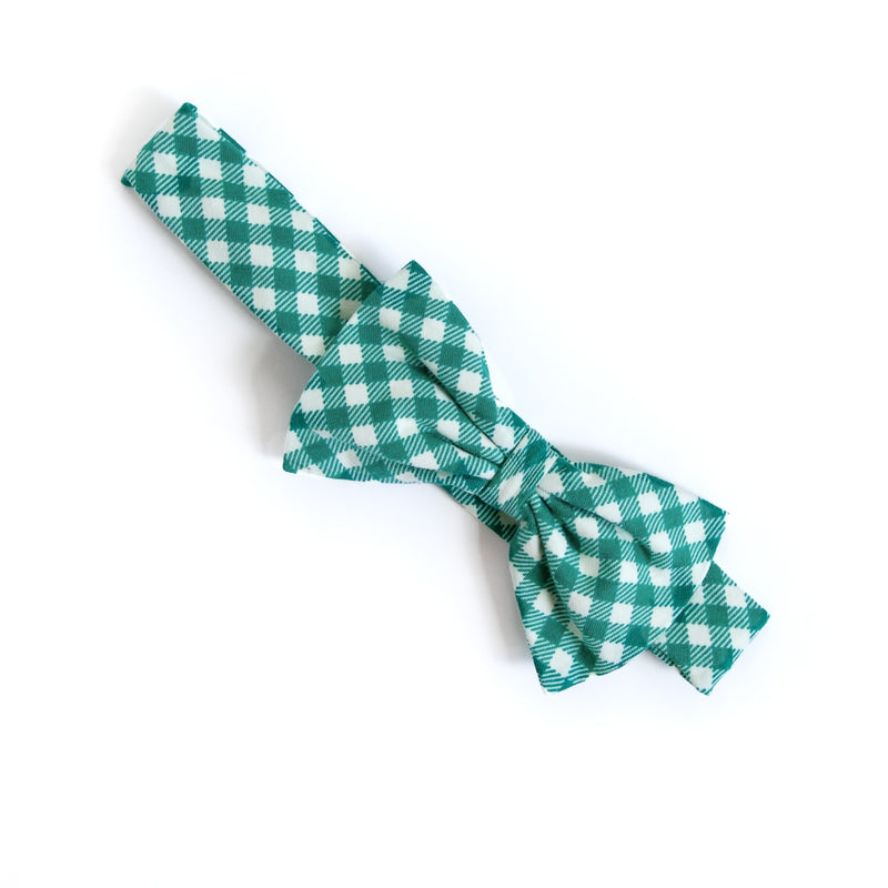 Green Check Hope Headband