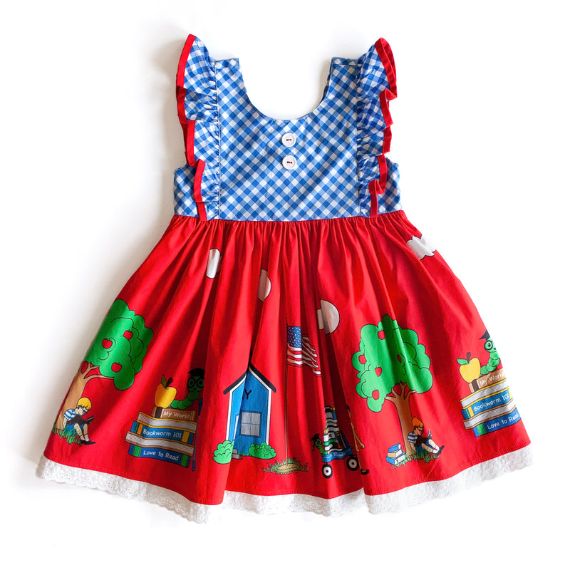 Bookworm Flutter Woven Dress
