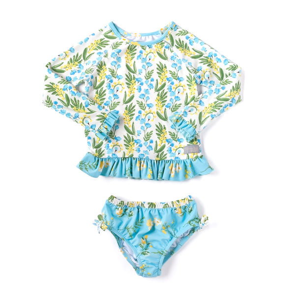 Spring Break Bluebell Rash Guard Set